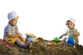 Little child's play with sand — Stock Photo