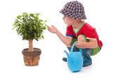 Bahçıvan çocuk — Stok fotoğraf
