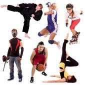 Colagem de esporte — Foto Stock