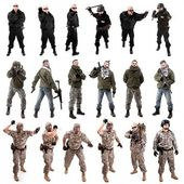 Military soldier poses — Stock Photo
