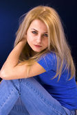 Attractive blonde woman — Stock Photo