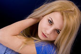 Blonde frau — Stockfoto