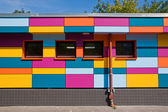 Small colourful building — Stock Photo