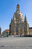 The famous Frauenkirche in Dresden — Stock Photo