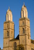 Las torres de la grossmunster — Foto de Stock
