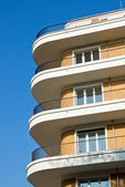 Modern apartments with balconies — Stock Photo