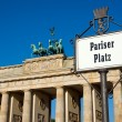 Street sign with Brandenburger Tor — Stock Photo