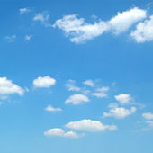 Cloud in blue sky — Stock Photo