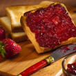 Toast with cherry jam — Stock Photo #7868083