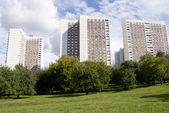 Cheap Apartment buildings in Moscow — Stock Photo