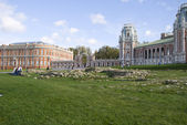 Old Russian palace in Tsaritsyno — Stock Photo