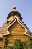 Wooden Russian church — Stock Photo