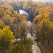Panoramof autumn park — Stockfoto #7211717