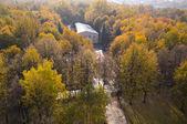 Panorama of the autumn park — Stock Photo