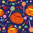 Seamless halloween candy - Stock Vector