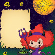 Royalty-Free Stock Vector Image: Halloween cute devil girl