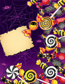 Halloween candy card — Stock Vector