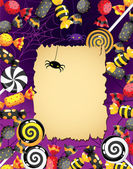 Halloween sweets card — Stock Vector