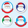 Santa head sticker - Stock Vector
