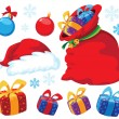 Christmas set — Stock Vector #7589296