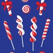 Set of Christmas candy — Stock Vector