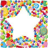 Candy star — Stock Vector