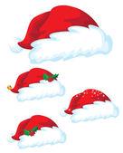 Santa claus hat set — Stock Vector