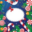 Christmas candy card - Stock Vector