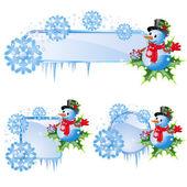 Set from christmas frames — Stock Vector