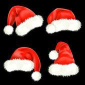 Noel baba şapkası. kafes. — Stok Vektör