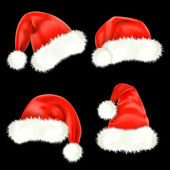 Santa Claus caps. Mesh. — Stock Vector