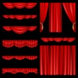 red curtains — Stock Vector