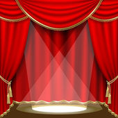 Theater stage. Mesh. — Stock Vector