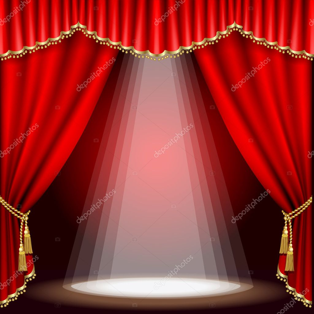 Pics photos theatre curtain red gold black background - Theater Stage Mesh Stock Vector 169 Len Pri 7338194