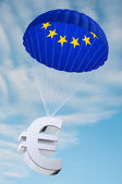 Euro parachute — Stock Photo