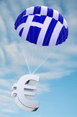 Greece parachute — 图库照片