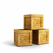 Wood crates — Stock Photo