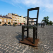 Chair monument in Krakow. — Stock Photo #7154320