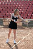 Tennis girl. — Stock Photo