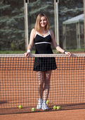 Tennis girl. — Stock Photo