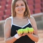Постер, плакат: Tennis girl