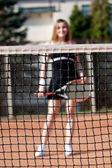 テニスの女の子. — ストック写真
