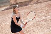 теннис девочка. — Стоковое фото