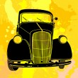 Stock Vector: Old car