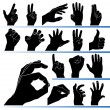 Royalty-Free Stock Vector Image: Set of hands