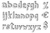 Retro font — Stock Vector
