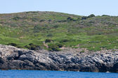 Costa dessert - golfo spalmatoi, isola di giannutri — Foto Stock