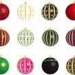 Stock Vector: Christmas Balls Vectors Set