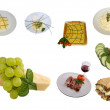 Mediterranean Cuisine Mix - Stock Photo