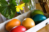 Still Life With Easter Eggs — Stock Photo